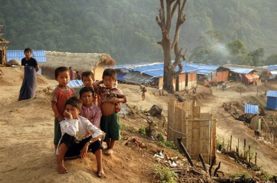 Kachin children at the N-Hkawng Pa Internally Displaced People's (IDP) camp in Kachin State (Patrick BODENHAM/AFP/GettyImages)
